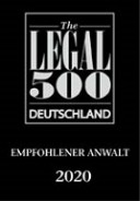 2020 Legal500 recommended lawyer 1 Klein4