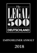 Legal500 2018 Deutsch recommended lawyer2